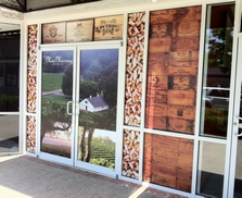 store front with window graphics printed vinyl