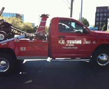 Tow truck lettering with color and mirror chrome vinyls